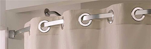Arcs & Angles HBA00KIT036 The Arc Curved Shower Bar, Stainless Steel, 60'' by Arcs & Angles