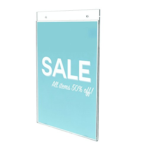 Deflecto Classic Image Wall Mount Sign Holder, 8.5