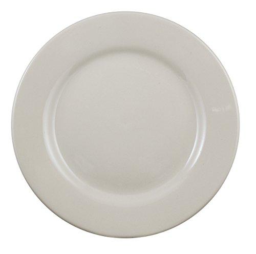Vertex China BRE-7 Buckingham RE Plate, #5, 7-1/8'', American White (Pack of 36) by Vertex China