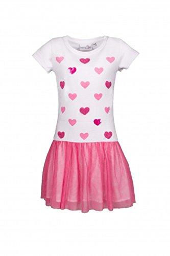 Eisend pink 981364 weiß mit Sommerkleid Herzen Kleid rarfTOS