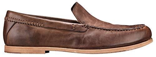 - Timberland A21CB Men's Tauk Point Venetian Loafers-Shoe, Dark Brown Full-Grain - 9 M US