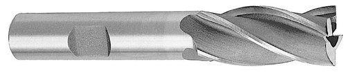 Drill America 11/16'' X 5/8'' High Speed Steel 4 Flute Single End End Mill, BRC Series by Drill America