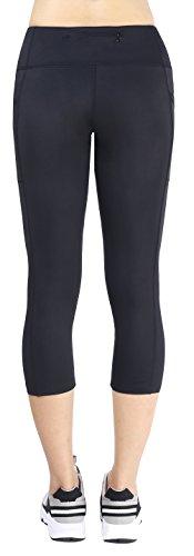 Flatik Women's Ladies Yoga Leggings Exercise Workout Pants Gym Tights With Side Pocket