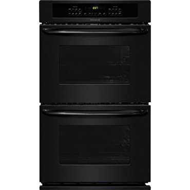 Frigidaire 30 in. Double Electric Wall Oven Self-Cleaning in Black (FFET3025PB)