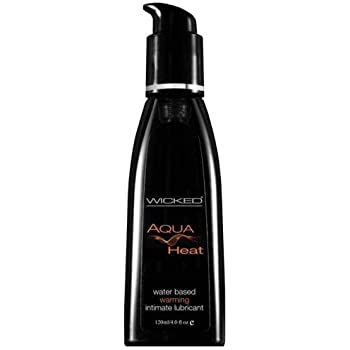Wicked Aqua Heat Water Based Warming Lubricant 4.0 oz