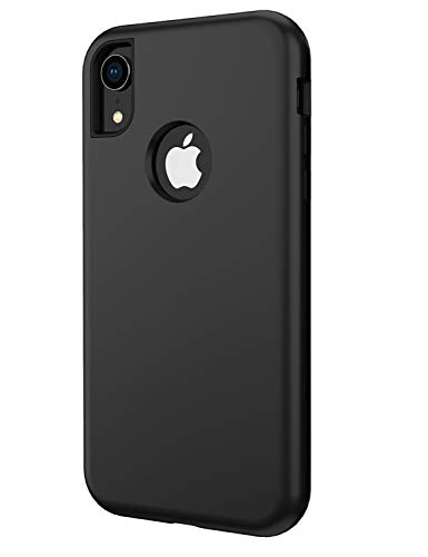 (YFWOOD Compatible for iPhone XR Case Heavy Duty, for iPhone XR Case Shockproof Scratch-Resistant Protective Shell with Soft TPU Bumper+Hard PC Back Cover for Apple iPhone XR 6.1