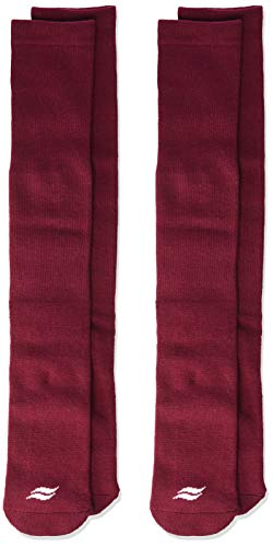 Sof Sole All Sport Over-the-Calf Team Athletic Performance Socks for Men and Youth (2 Pairs), Child 13-Youth 4, Maroon