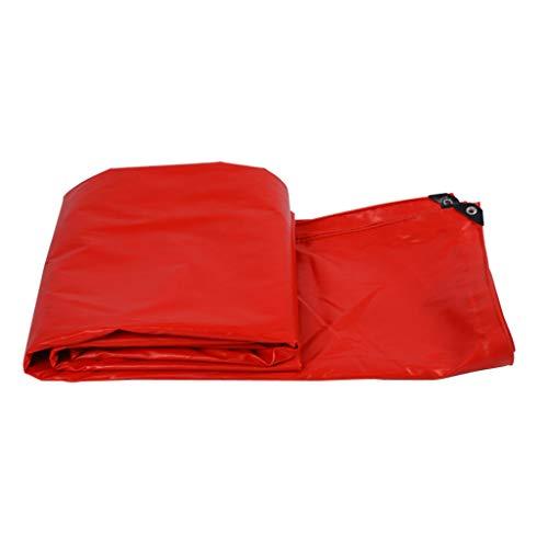 Rote PVC-beschichtete Wasserdichte Plane, im Freien Wasserdichte Segeltuch-Abdeckungs-Poncho der Wasserdichten UVschutz-Plane