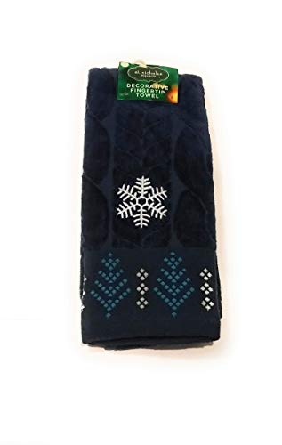 (St. Nicholas Square Decorative Fingertip Towel (Happy Holidays Cable Knit))