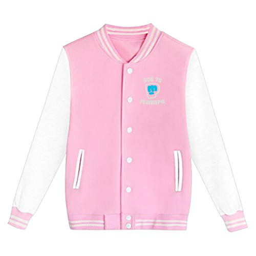 Unisex Youth Girls Boys Classic Pewdiepie Merch Sweatshirt Casual Uniform Baseball Cap Jacket Loose Sport Coat for Girls Boys Pink