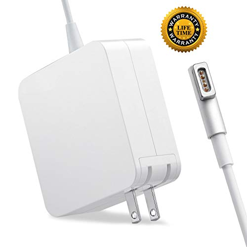 Mac Book Pro Charger, Replacement 60W L-Tip Magsafe 1 Power Adapter Charger for Mac Book and 13-inch Mac Book Pro (Before Mid 2012 Models) (X-Large)