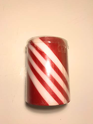 (Candy Cane Unscented Pillar Candle 4 x 4 inches Christmas Holiday)