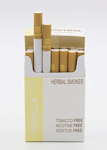 Rose Cigarette - Honeyrose VANILLA Tobacco & Nicotine Free Herbal Sticks