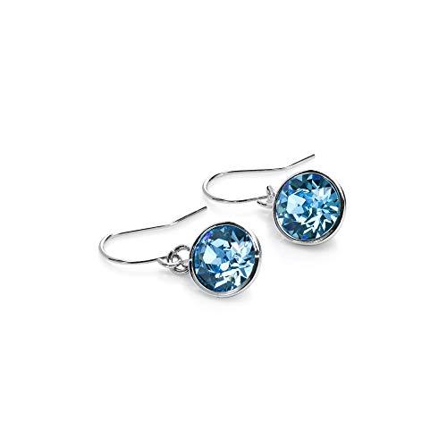 (UPSERA Blue Drop Dangle Earrings Made with Swarovski Crystals Fashion Jewelry for Women Girls)