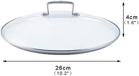Couvercle en dôme 10 pouces transparent couverture en verre Couvercle Pan Pot universel remplacement for les poêles à frire ou pots Couvercles