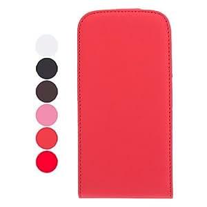 Teléfono Móvil Samsung - Fundas con Soporte - Color Sólido - para Samsung S3 I9300 ( Negro/Blanco/Rojo/Marrón/Rosado , Cuero PU ) , White