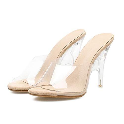 Mode 2018 Sommer Urtjsdg Hausschuhe Kristall Kühle Heels Slides 5 Ferse Transparente High Frauen Escarpins Schuhe 7 n5WWfaEB