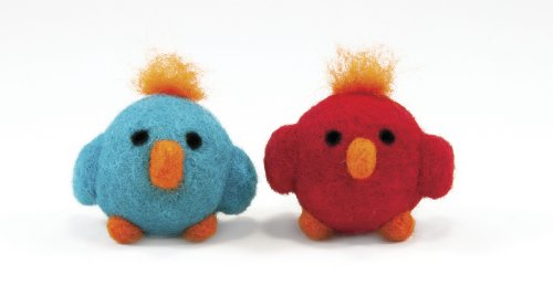 Dimensions Needlecrafts Round and Wooly Birds Needle Felting Kit