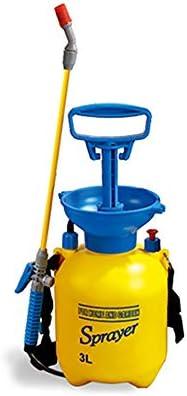 3L / 5L / 8L黄色の芝生と圧力ポンプ付き庭ポンプ圧力噴霧器、肥料用、園芸肥料洗浄