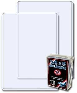 Verzamelkaarten, ruilkaarten Index Card Toploaders NEW 5 PK BCW 3X5 Top Load Holders Photo Print