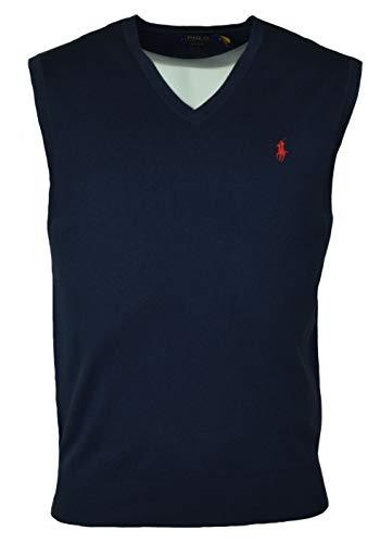 Polo Ralph Lauren Men's Pima Cotton Sweater Vest, Small, - Men Pony Vest Big Polo For