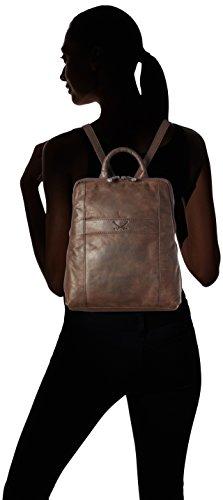 Sansibar Damen Backpack Rucksackhandtaschen, Braun (Dark Brown), 26x29x9 cm