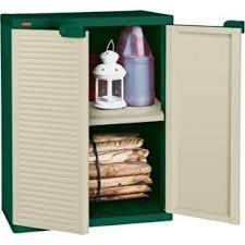 Keter Garden Storage Cream Plastic Compact Storage Cupboard ...