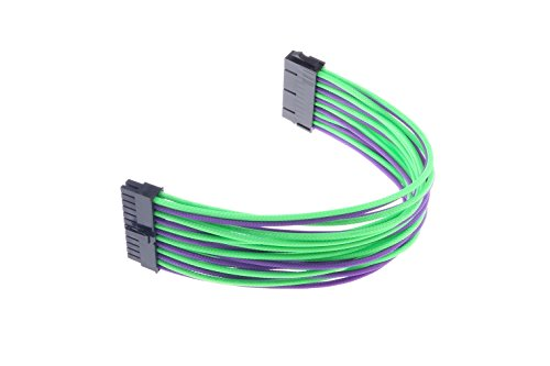 LM YN 24-Pin Motherboard Power Supply Extension Cable UL1007 /18AWG Purple-green by LM YN (Image #7)