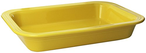 Fiesta 9-Inch by 13-Inch Lasagna Baker, Sunflower (Baking Days Red Dinnerware)