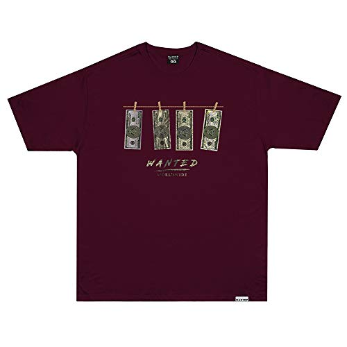 Camiseta Wanted - Dollar Vermelho Cor:Vermelho;Tamanho:G