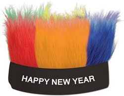 [Happy New Year Hairy Headband (Sold by 1 pack of 12 items) PROD-ID : 1907225] (Happy New Year Boppers)