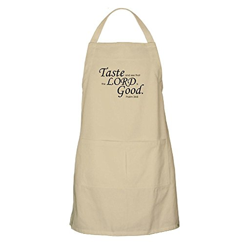 CafePress Taste and See BBQ Kitchen Apron with Pockets, Grilling Apron, Baking Apron