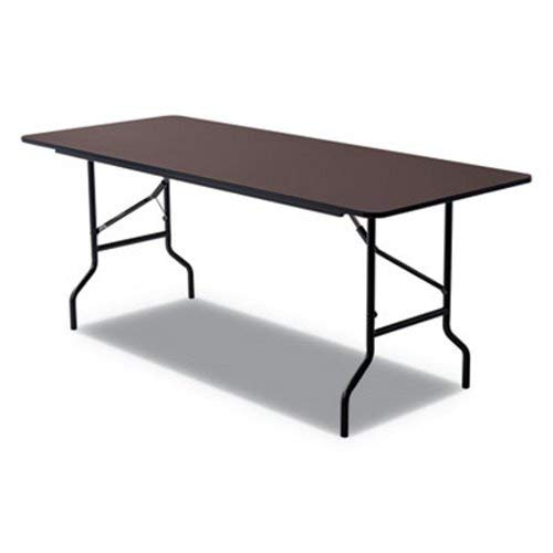 Iceberg 55324 Economy Wood Laminate Folding Table, Rectangular, 72w x 30d x 29h, Walnut