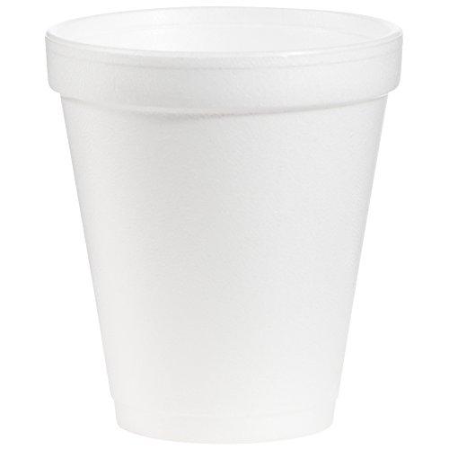 Dart 8J8 8 oz Foam Cup, 8 Series Lids (Case of 1000) by DART