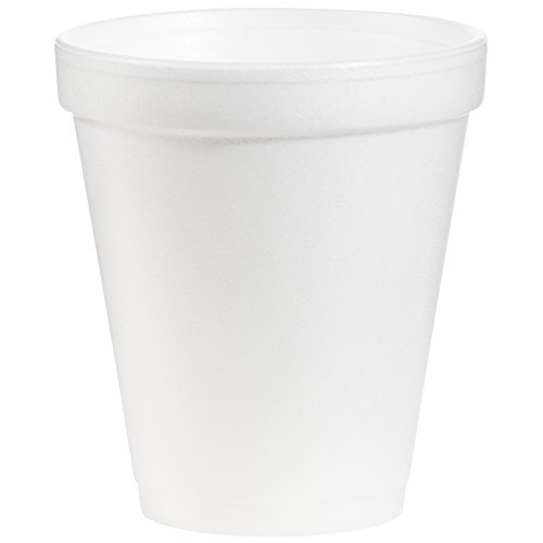 Dart 8J8 8 oz Foam Cup, 8 Series Lids (Case of 1000) (Number Lines Print)