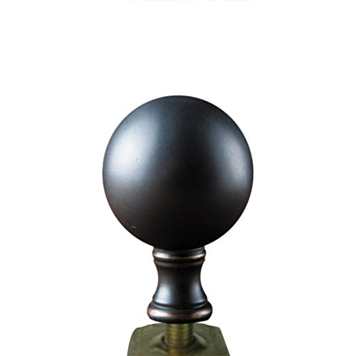 Oiled Bronze Sphere Finial by Finial Showcase
