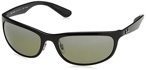 Ray-Ban RB4265 Chromance Lens Wrap Sunglasses, Black Frame/Silver Mirror Lens - Ray Ban Silver Mirror
