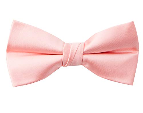 (Spring Notion Men's Solid Color Satin Microfiber Bow Tie Petal)