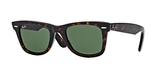 Ray-Ban RB2140 Original Wayfarer Unisex Sunglasses (Tortoise Frame / Green Lens 902, - Ban Lenses Rb2140 Ray