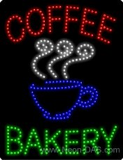 Coffee Bakery Outdoor LED Sign 31 x 24