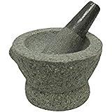 Libertyware 8 Inch Stone Granite Mortar and Pestle 4 Cup Capacity