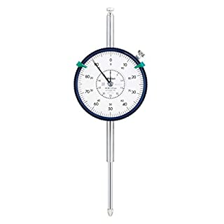 Mitutoyo 2900S-10 Dial Indicator, M2.5X0.45 Thread, 8mm Stem Dia., Lug Back, White Dial, 40-0-40 Reading, 57mm Dial Dia…