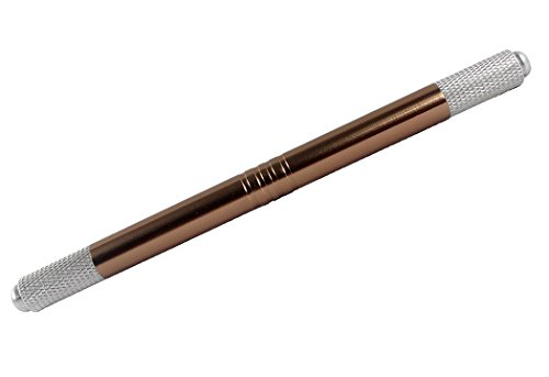 Xiaoyu Double Head 3D Multifunction Manual Tattoo Permanent Makeup Eyebrow Pen Microblading Pen - Brown