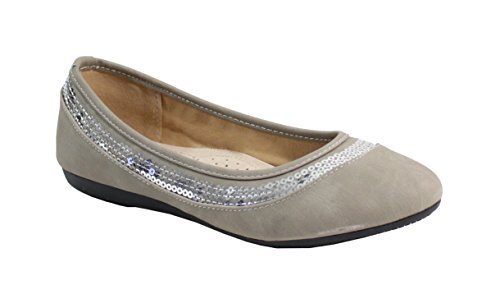 By Shoes - Pailleté Ballerine Plate Shoes Style B01N1EY4VU Pailleté - Femme Taupe add0535 - fast-weightloss-diet.space