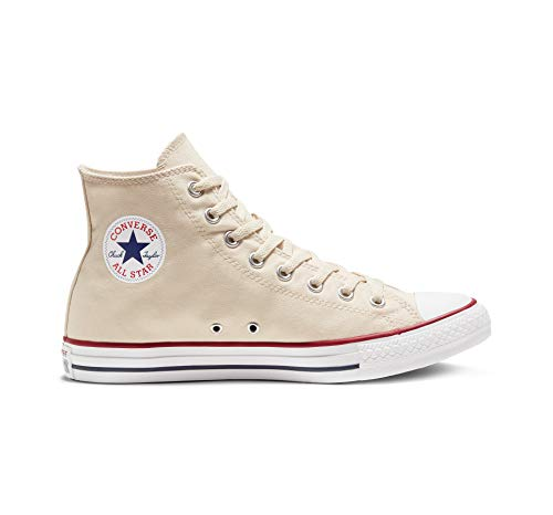 Ivory Textile - Converse Chuck Taylor All Star High Top Sneaker, Natural Ivory, 9 M US