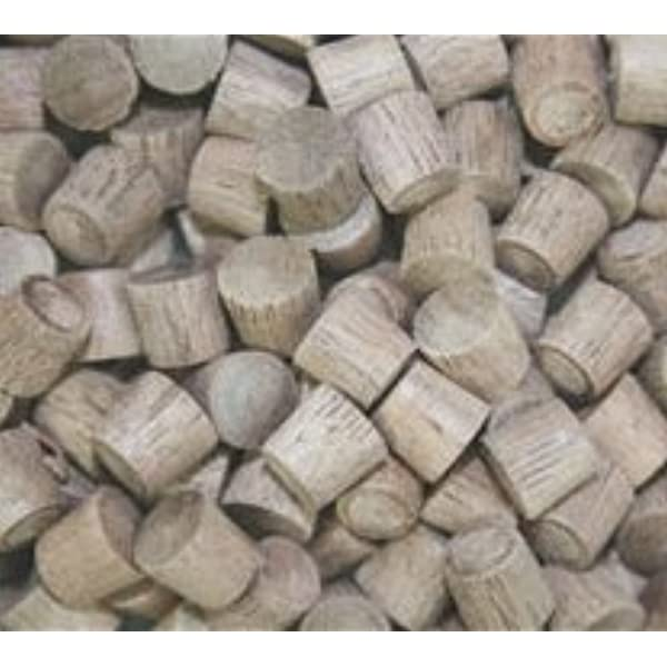 WIDGETCO 1//4 Walnut Wood Plugs Face Grain