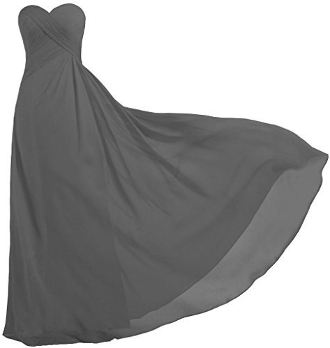 ANTS Women's Strapless Long Bridesmaid Dresses Chiffon Wedding Prom Gown Size 12 US (Strapless A-line Bridesmaid Gown)