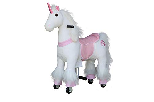 Medallion - My Pony Ride On Real Walking Horse Children 3 to 6 Years Old Up to 65 Pounds (Color Small Pink Unicorn)