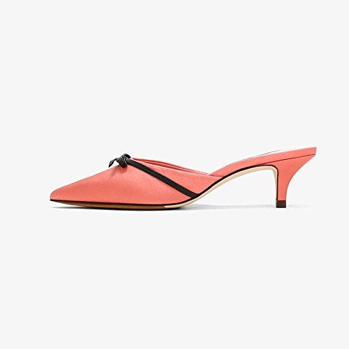 5 De YQQ Chaussons Hauts taille Printemps Uk4 Simple Chaussures Rose Sandales 4 Mode Chaussure Été Banlieue Talons EU37 Couleur 5 Chaussures Femelle Rose CM Dame 5 Femme Fille Des De Confortable 5w50ftrxq