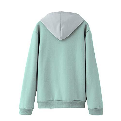 Tunica Ashop Color Azul Tops Ropa Mujer Verde Invierno Verano Blusas Otoño Mujer Sudaderas vxBvZrwRq